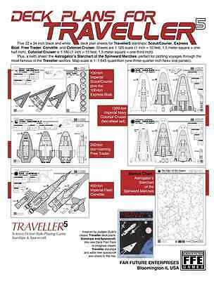 Traveller RPG: Starships and Spacecraft Deck Plans PSI FFE0301