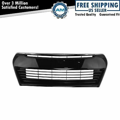 Front Lower Center Black Chrome Trim Grill Grille Assembly for Toyota Corolla