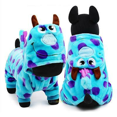 Pet Dog Puppy Winter Warm Cartoon Clothes Jumpsuit Hoodie Coat Apparel Costumes