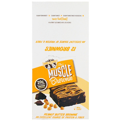 New Lenny & Larry's Muscle Brownie Peanut Butter Vegan Cholesterol Free Care