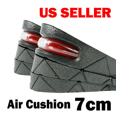 7 cm Air Cushion Heel Insert Increase Taller Height Lift Shoes Insole