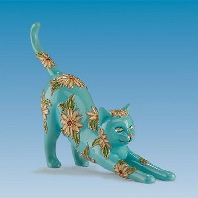 Delightful Daisy Cloisonne Garden of Cat Figurine - Bradford Exchange