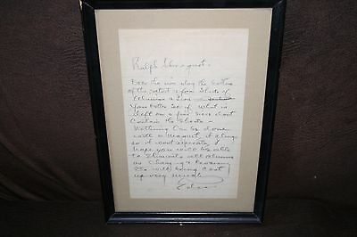 THOMAS ALVA EDISON- Handwritten and signed note from Edison