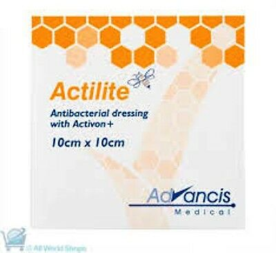 Actilite Manuka Honey Dressings 10cm x 10cm (box of 10 dressings)