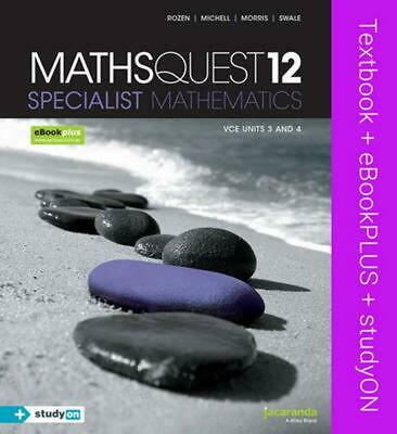 Maths Quest 12 Specialist Mathematics VCE Units 3 and 4 & eBookPLUS + StudyOn VC