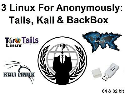 Linux Collection for Anonymous Browsing Privacy Security: Tails, Kali & BackBox