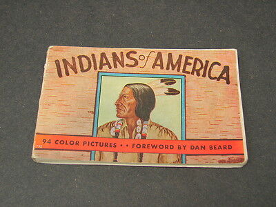 Antique Vintage 1935 Indians of America by Lillian Davids Fazzini Miniature Book