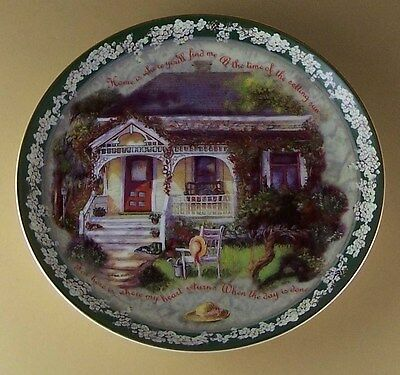 HOME IS WHERE YOU'LL FIND ME Plate Welcome Home Glenna Kurz #8 Floral Charming!
