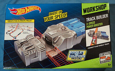 Hot Wheels Workshop Track Builder 2-Speed Power Booster Accessory Kit, Brand New