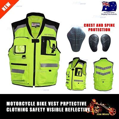 Motorbike Hi Vis Vest Motocross Reflective Safety Motorcycle Scooter ATV Dirt