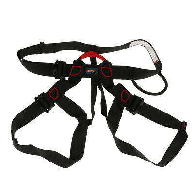 Rappelling Rock Climbing Harness Seat Safety Sitting Bust Belt with Bag