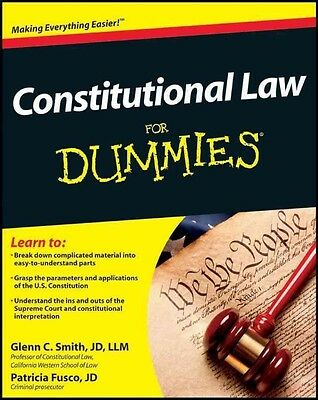 Constitutional Law For Dummies by Glenn Smith Paperback Book (English)