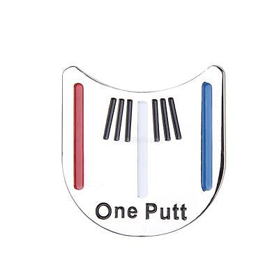 Red White Blue Striped One Putt Golf Putting Alignment Ball Marker +Hat Clip