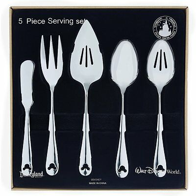 Disney Parks Mickey Mouse Flatware Silverware Serving 5 Piece Set - New In Box