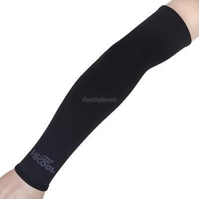 Black Bicycle Cycling Golf Basketball UV Sun Protection Cooler Arm Sleeves