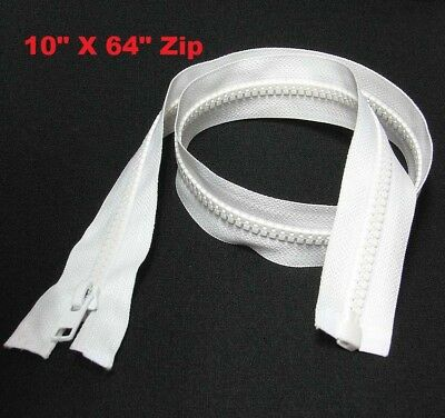 "Bright White SiZE # 5 Plastic Teeth Zip Zipper Open End 10""- 64"" Lengths"