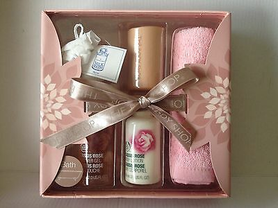 The Body Shop ~ Cassis Rose ~ 5 Piece Bath & Body Gift Set ~ Brand New