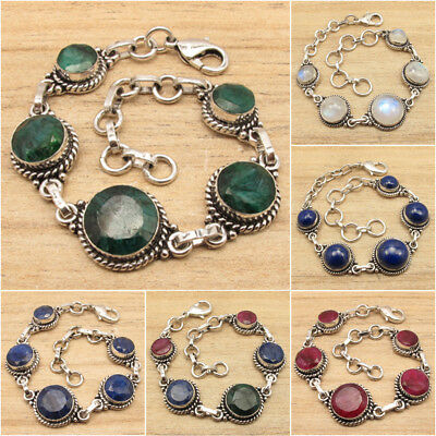 """Brand New BRACELET 7 7/8"""" !! 925 Silver Plated Antique Look ART Jewelry"""