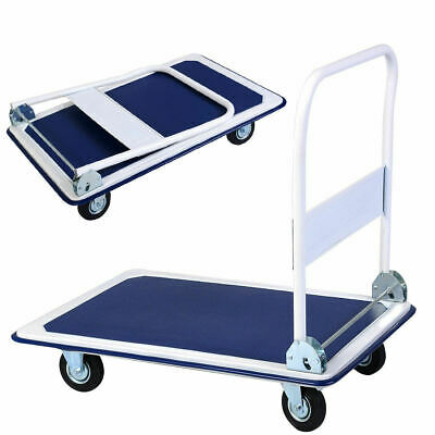 New 660lbs Platform Cart Dolly Folding Foldable Moving Warehouse Push Hand Truck