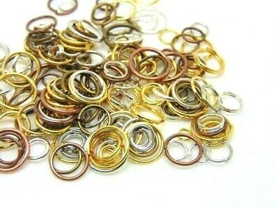 15g of Random Mixed Colour & Mixed Size Jump Rings Jewellery Findings Craft P35