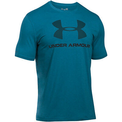 Under Armour Charged Cotton Sportstyle Logo T-Shirt peacock black 1257615-779