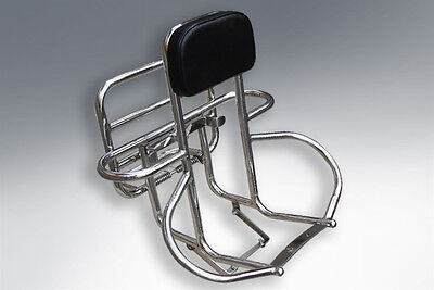 Lambretta Backrest Rack 4 In 1 Uprated  Stainless Series 1 & 2