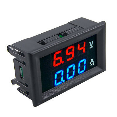 New DC 100V 10A Voltmeter Ammeter LED Digital Gauge Dual Voltage Current Meter