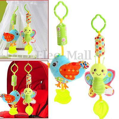 Animal Handbell Developmental Bed Pram Bell Kids Baby Soft Stroller Hanging Toy