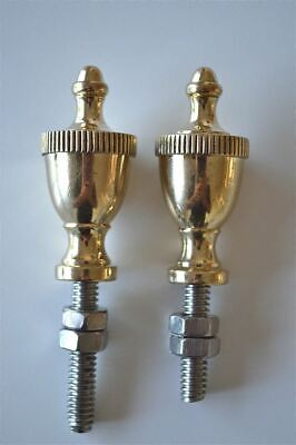 A pair of superb quality antique brass furniture or clock finials 2009