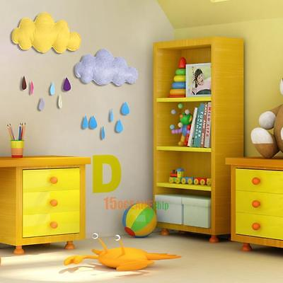 Cloud Raindrop Removable Kids Baby Room Cute Nursery Wall Decal Stickers Decor