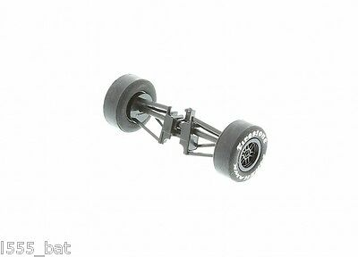 Scalextric Spares W9242 Front Wheels Tyres & Axle For Dallara Indy Car C2572 New