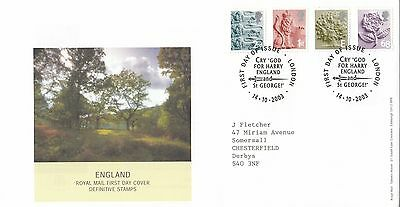(92398) GB FDC England 68p E 1st 2nd - London 14 October 2003