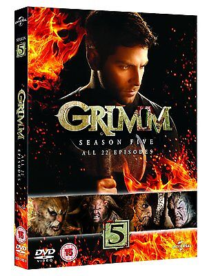 "Grimm Complete Season 5 Collection Dvd Box Set 6 Disc R4 ""new&sealed"""
