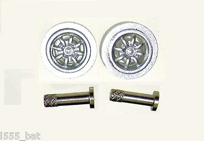 Scalextric SparesW10033 Classic Mini Cooper S Front Minilite Wheels & Pins Bolts