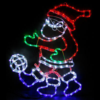 73cm Animated Flashing Santa Football Rope Light LED Christmas Xmas Decoration