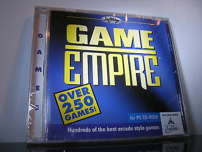 New  Shareware Game empire Softkey Vintage software CD-ROM over 250 PC games
