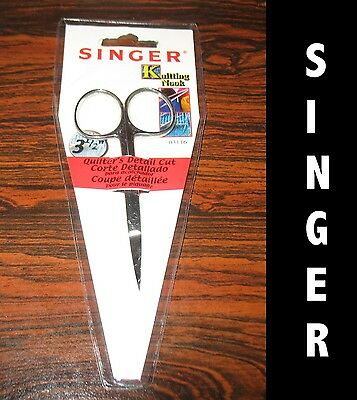 2 New Singer Quilter`s detail cut scissors 3 1/2 inch Stainless steel fine point