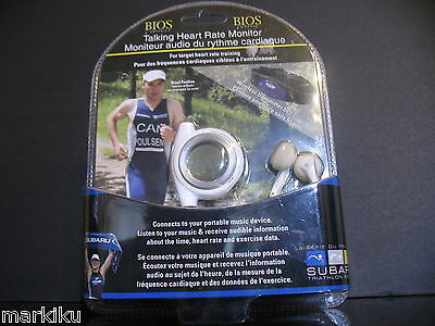 White BIOS fitness Talking heart rate monitor Connects to ipod Iphone mp3 player
