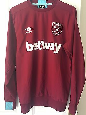 West Ham 2016/17 ADULTS TRAINING DRILL TOP Claret - Various Sizes