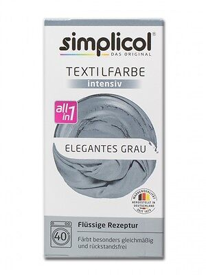 Simplicol 1817 Textilfarbe Intensiv All-in-1 flüssig, Elegantes Grau