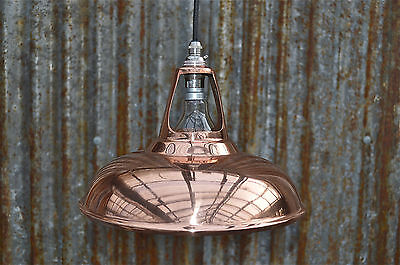 Vintage Style Copper Coolicon Ceiling Light Vented Hanging Lamp Shade Ccsr4