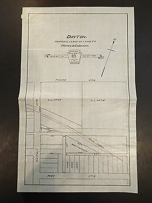 Dayton Proposed Land Lease to Pierce & Coleman Railroad Map 1890
