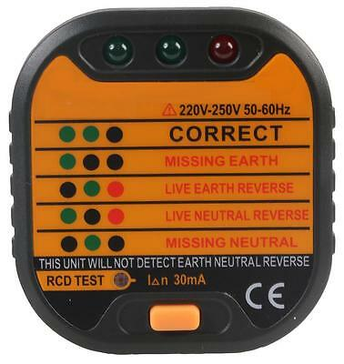 Duratool - D02375 - Socket Tester With Rcd Test