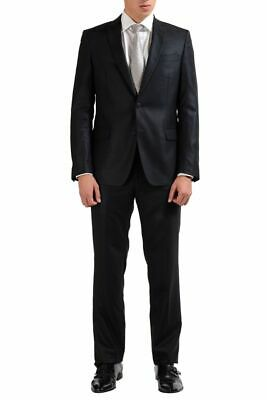 Versace Collection 100% Wool Gray Two Button Men's Suit Sz 38 42 44 46