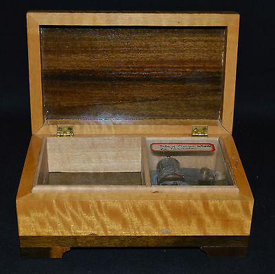 Lovely Vintage Two-Tone Wood Thorens Music Box, dist. by Silverite Co (P1944)