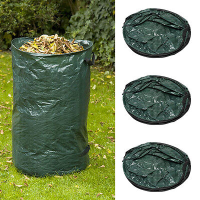 3x SHS Garden rubbish bag Grass sack 120L durable new