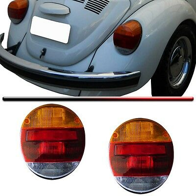 VW BUG Left or Right Rear Tail Light LENS Orange Red White VOLKSWAGEN BEETLE