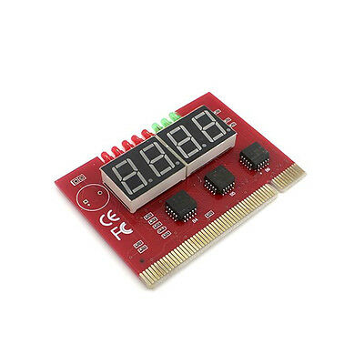 4 Digit Analysis PC Analyzer Card PCI Motherboard LED Diagnostic Test Card