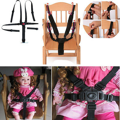 5 Point Baby Kids Harness Seat Belt Strap Portable For Stroller High Chair Pram
