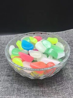 Glow in the Dark Pebbles Luminous Stones Home Garden Fish Tank Decoration  100g